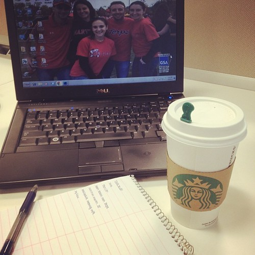 Starting the work saying right with my @starbucks chai latte. Makes everything about an early morning better.