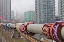 Bridge Yarn Bombing