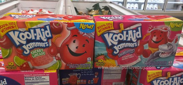 Kool-Aid Jammers Cherry Limeade and Sharkleberry Fin
