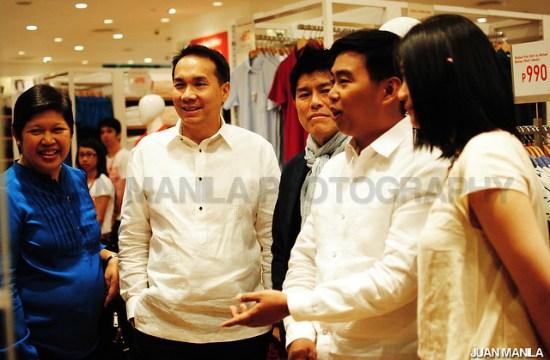 Mayor Junjun Binay with UNIQLO officials.