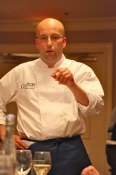 Chef Lorenzo Loseto describing a dish at the Canadian Culinary Championships
