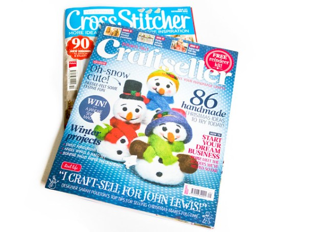 craftseller and cross stitcher magazines