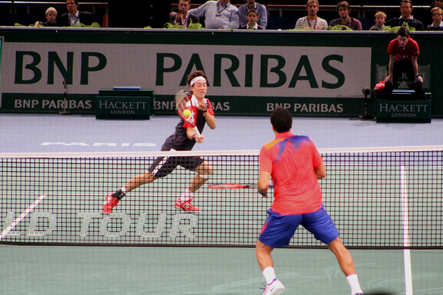 Kei Nishikori and Jo Tsonga