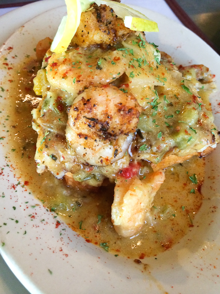 Blackened Shrimp & Grits at Dempsey's #cajun #seafood #shrimp
