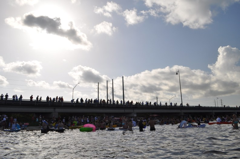The Gilchrist Bridge as Seen During the 23rd Annual Charlotte Harbor Freedom Swim Across the Peace River, Charlotte Harbor to Punta Gorda, July 4, 2014