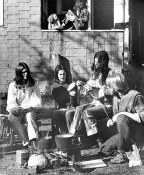 Hippies in Kitsilano - Kitsilano commune backyard barbecue Photo: Pugstem Publications. (City of Vancouver Archives – CVA 134-041