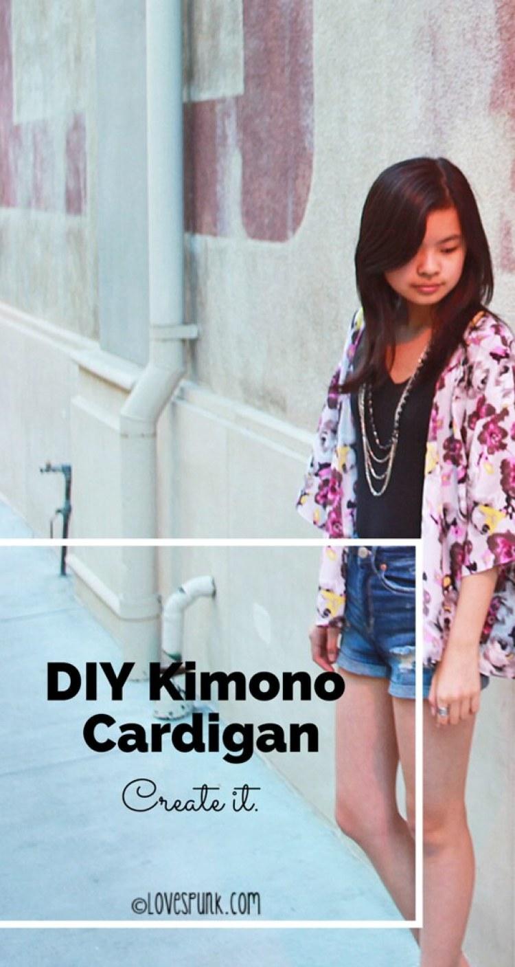 DIY Kimono Cardigan