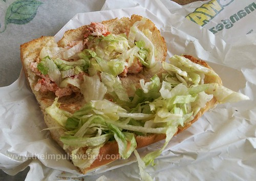 Subway Atlantic Canada Lobster Sandwich Innards
