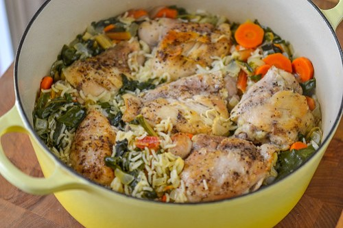 One-Pot Chicken & Rice with Swiss Chard (9 of 13)