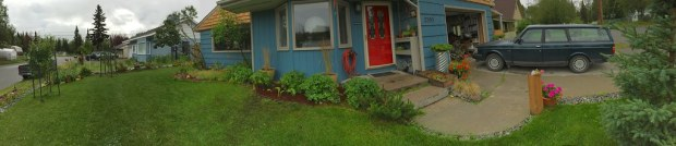 pano of the front yard