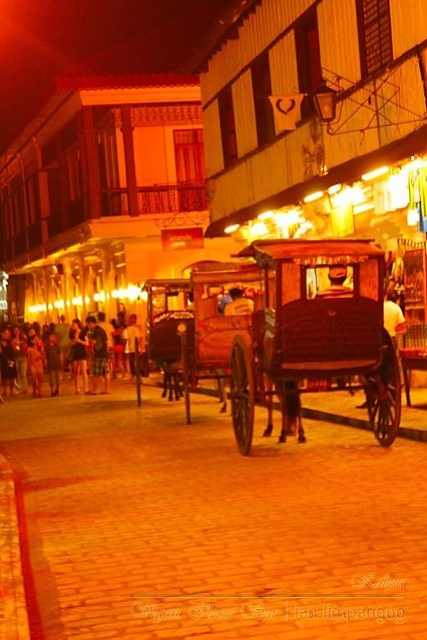 Calle Crisologo in Vigan Field with Tourist and Spectators