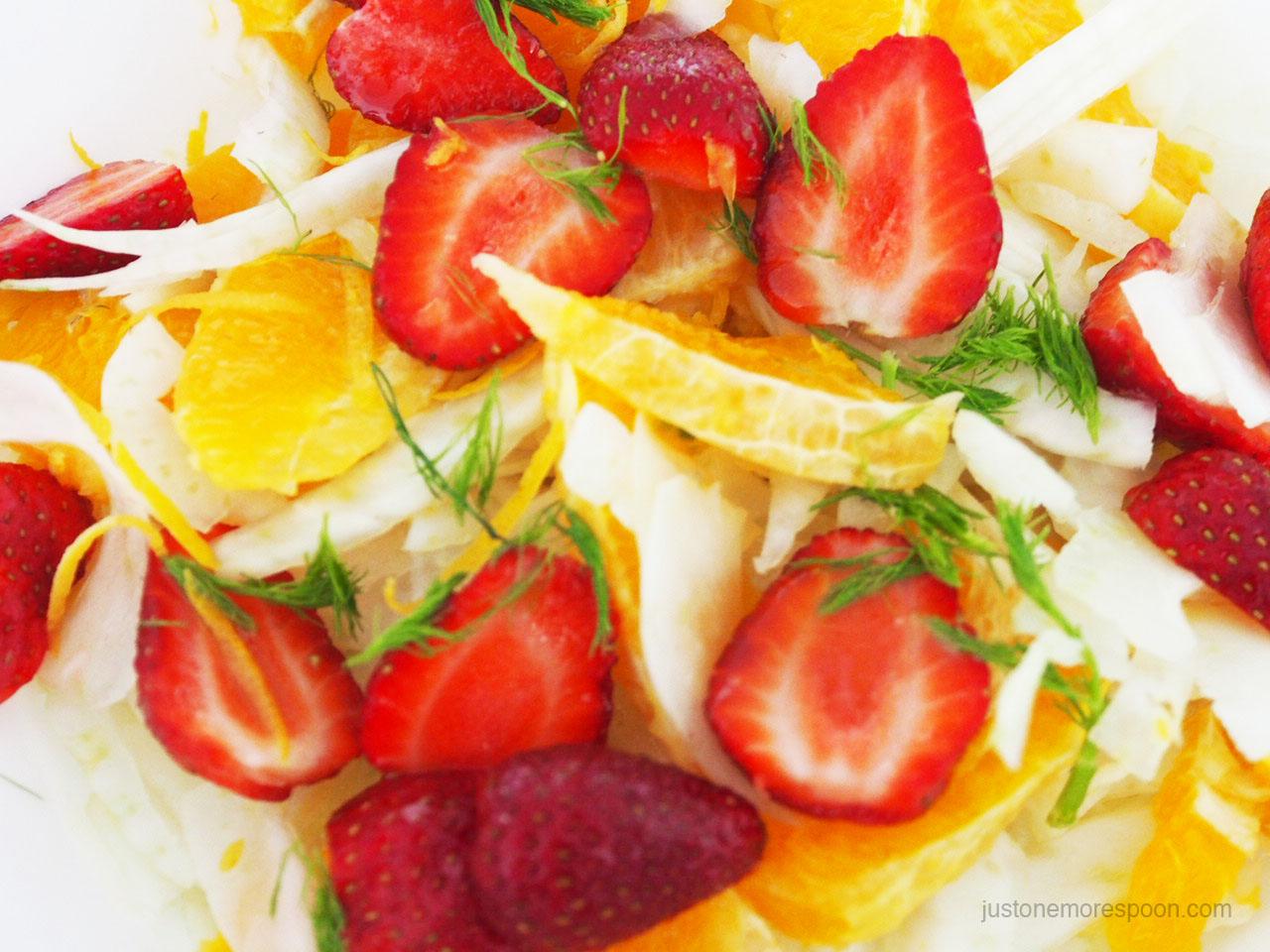 Fennel, orange and strawberry salad