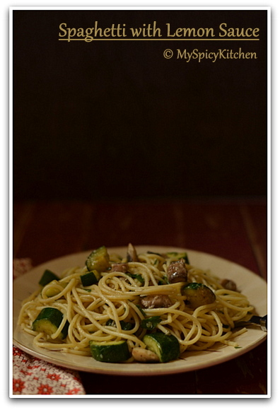 Spaghetti al Limone, Pasta in Lemon Sauce, Italian Food, Italian Cuisine,  Blogging Marathon,