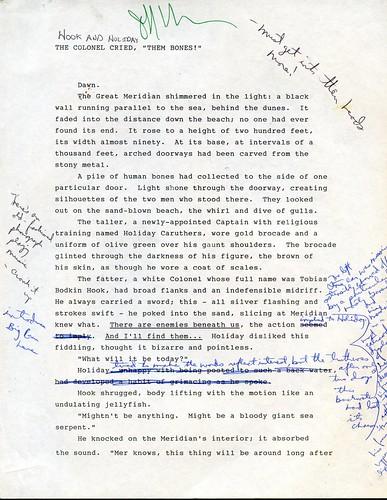 Hook and Holiday manuscript page, Jeff VanderMeer, With a Little Help ephemera.jpg