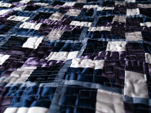 Satin quilt closeup