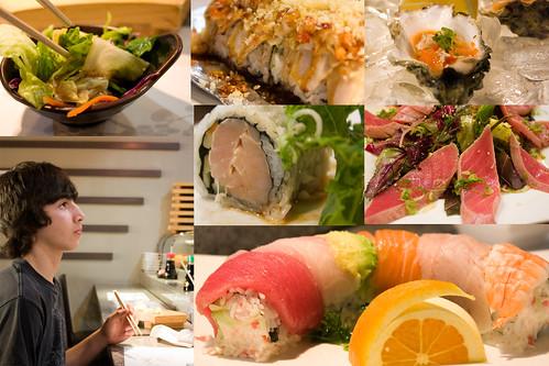 Birthday boy chose sushi for dinner