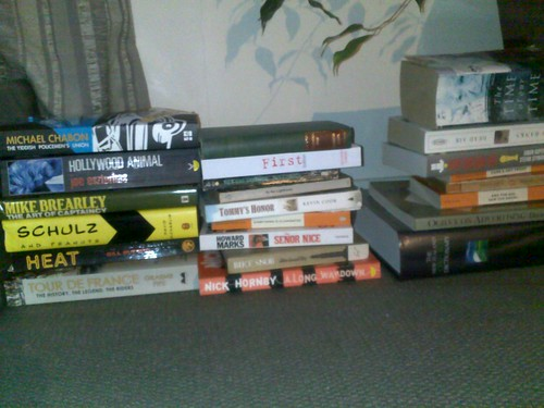 sorting out the reading / to read pile