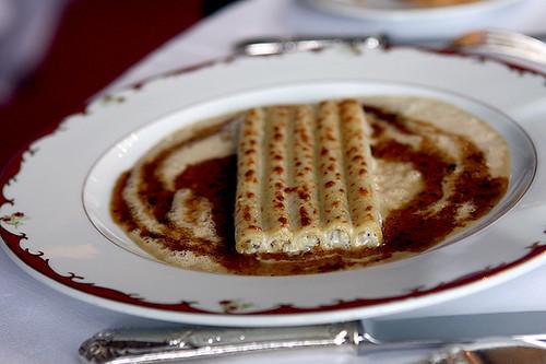 macaroni facis au céleri rave, foie gras, truffes noires