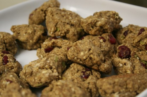 Carob flour cranberry cookies