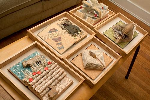 Altered books - the framing begins
