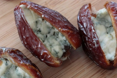 Blue Cheese-Walnut Stuffed Medjool Dates
