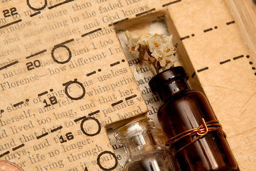 Altered Book: The Alchemy of Existence - detail