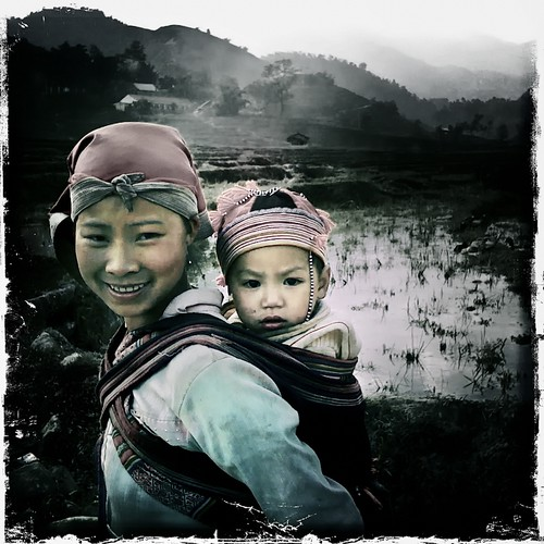Vietnamese mother and son
