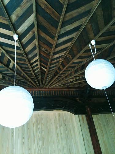 建て替えだけど天井は残して