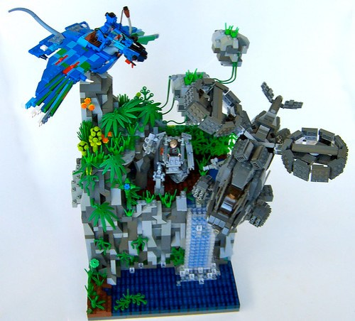 LEGO Avatar Pandora battle diorama