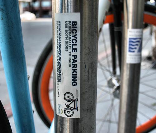 Bike rack use instructions