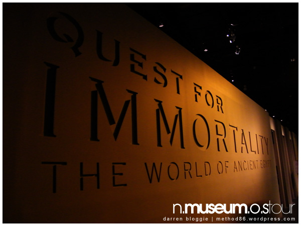 """Quest for Immortality, The World of Ancient Egypt"""