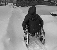 wheelchair snow