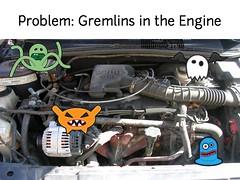 w2sp: Slide 8: Problem: Gremlins in the engine