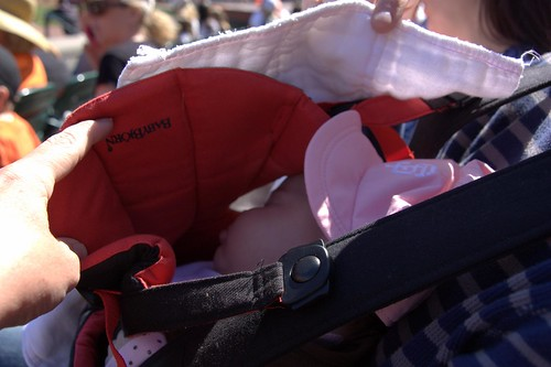 napping in the bjorn
