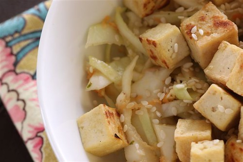 asian slaw with tofu