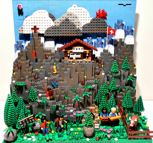 LEGO .eti swiss hiking diorama
