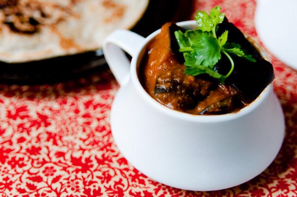 Spiced aubergine stew