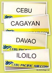 Cebu, Cagayan De Oro, Davao, and Iloilo