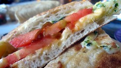 young augustine's - heirloom tomato sandwich bisected