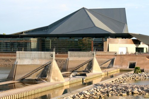 Tempe Center for the Arts, down dam