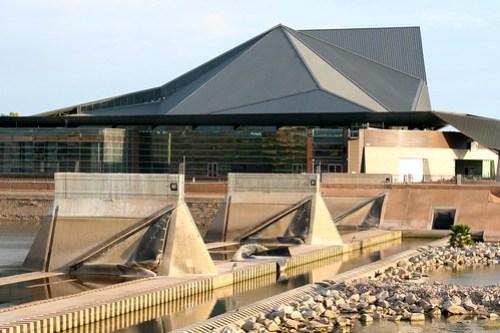 Tempe Center for the Arts, down dam