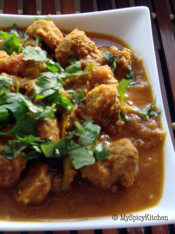 Soya Nuggets Curry
