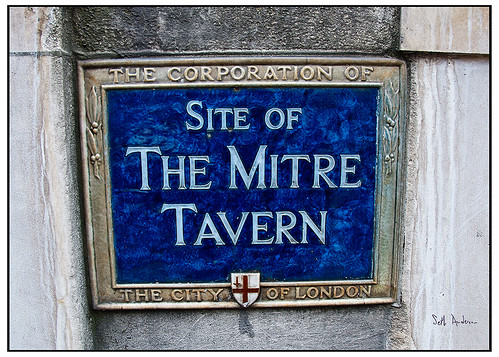 Site of the Mitre Tavern
