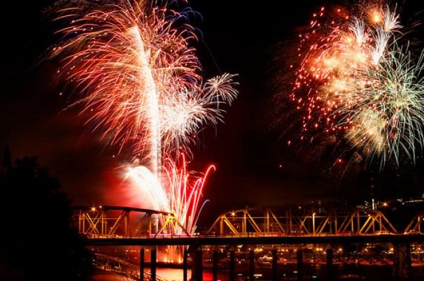 4th of July Fireworks 2010 - Portland Oregon
