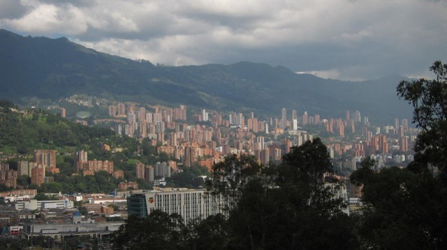 View toward El Poblado