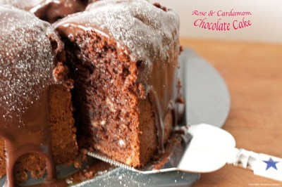 Rose & Cardamom Chocolate Cake