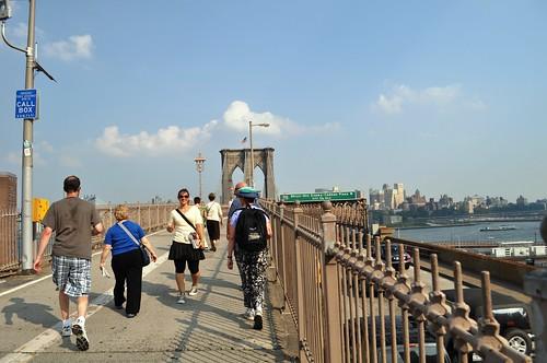 Walking the Brooklyn Bridge with Context Travel, June 2010