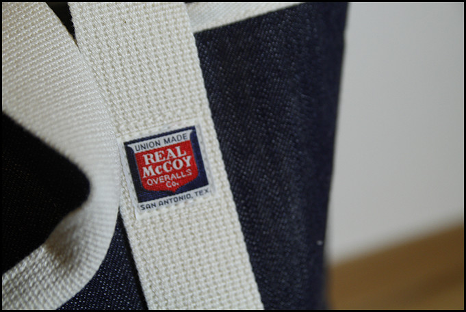 The Real McCoy's Denim Tote Bag Detail