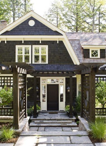 Shingled cottage exterior CH&H