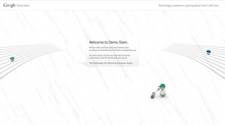 Google Demo Slam Screenshot